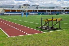 Campo di rugby e stadio della tribuna Fotografia Stock Libera da Diritti
