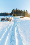 Campo di Snowy, Zakopane, Polonia Immagini Stock