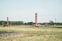 Campo di sterminio di Auschwitz Fotografia Stock Libera da Diritti