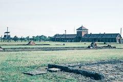 Campo di sterminio di Auschwitz Fotografia Stock