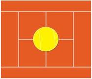 Campo di tennis Fotografie Stock Libere da Diritti