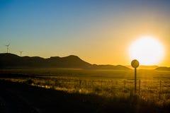 Campo di tramonto Fotografia Stock