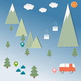 Campo di vacanza di inverno illustrazione vettoriale