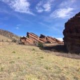 Campo do anfiteatro das rochas do vermelho das rochas imagem de stock