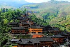 Campo do arroz do terraço de Longji foto de stock royalty free