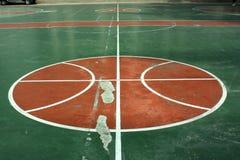 Campo do basquetebol Fotografia de Stock Royalty Free