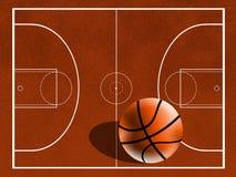 Campo do basquetebol Imagens de Stock Royalty Free