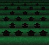 Campo do chá e coletores chineses Imagem de Stock