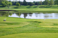 Campo do clube de golfe Imagem de Stock Royalty Free