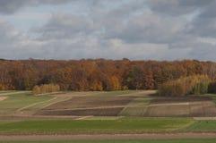 Campo do outono no Polônia Fotografia de Stock Royalty Free