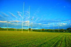 Campo do rugby Fotos de Stock
