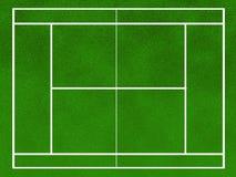 Campo do tênis Fotografia de Stock Royalty Free