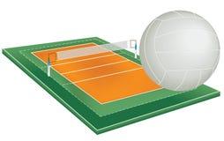 Campo do voleibol ilustração do vetor