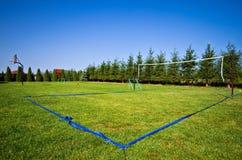 Campo do voleibol no quintal Imagem de Stock Royalty Free