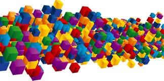 Campo dos cubos ilustração do vetor