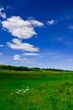 Campo e céu Fotos de Stock