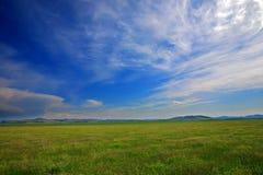 Campo e cielo Fotografie Stock Libere da Diritti