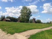 Campo e exploração agrícola Fotografia de Stock Royalty Free
