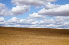 Campo e nubi fotografia stock