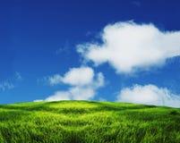 Campo e nuvens Foto de Stock Royalty Free