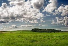 Campo e nuvens Foto de Stock
