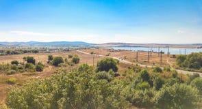 Campo e pasto em Burgas, Bulgária Foto de Stock Royalty Free