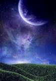 Campo e pianeta Fotografie Stock Libere da Diritti