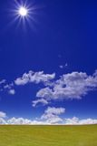 Campo e Sun verdes Imagem de Stock