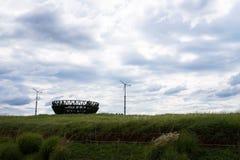 Campo e vento di erba nel parco del haneul immagine stock