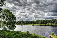 Campo em Sweden Foto de Stock Royalty Free