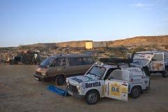 Campo en el desierto, Western Sahara Imagenes de archivo