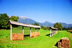 Campo en Eslovenia Imagen de archivo