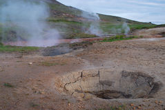 Campo en Thingvallavatn, al sur de Islandia foto de archivo libre de regalías