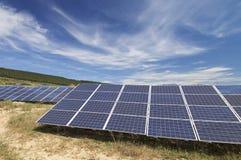 Campo a energia solare Immagine Stock Libera da Diritti