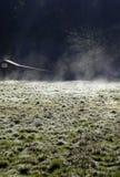 Campo escarchado del rancho Fotografía de archivo libre de regalías