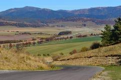 Campo eslovaco na região de Presov foto de stock