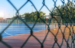 Campo exterior de Futsal fotografia de stock