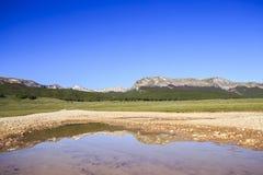 Campo Felice Plateau i Abruzzo, Italien Royaltyfria Foton