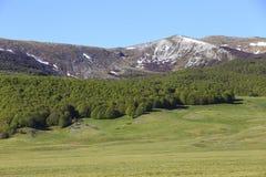 Campo Felice Plateau i Abruzzo, Italien Royaltyfri Bild