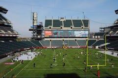 Campo finanziario di Lincoln - gioco del calcio del tempiale pregame Fotografia Stock Libera da Diritti