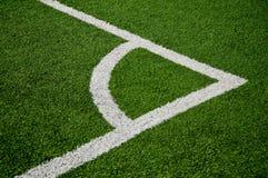Campo footbal d'angolo Fotografie Stock Libere da Diritti