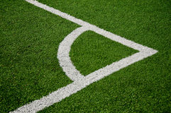 Campo footbal de canto Fotos de Stock Royalty Free