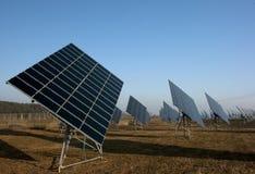 Campo fotovoltaico Immagini Stock