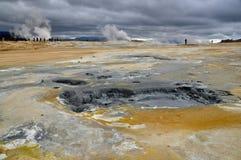 Campo geotérmico Foto de archivo