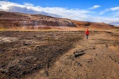 Campo geotérmico Fotografía de archivo libre de regalías