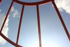 Campo giochi dei bambini della nuvola del cielo Fotografie Stock Libere da Diritti