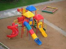 Campo giochi moderno dei bambini Fotografia Stock