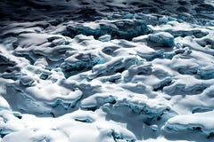 Campo glacial Imagen de archivo libre de regalías