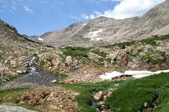 Campo glaciale in molla in anticipo Fotografie Stock Libere da Diritti