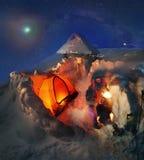 Campo a gran altitud en la montaña Goverla Fotografía de archivo libre de regalías